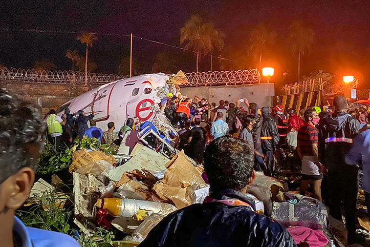 Kerala plane crash: 17 dead as Air India plane skids off the tabletop runway