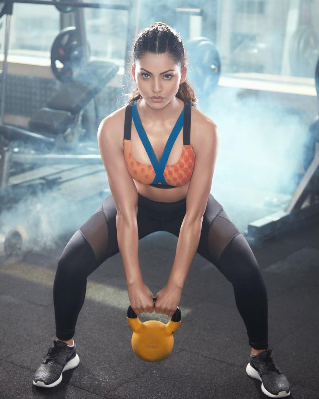 Urvashi Rautela yoga look